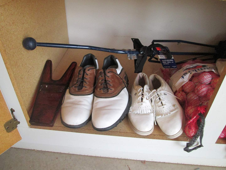 Lot # 142 - Golf Shoes, Balls, Bags/Totes (main image)