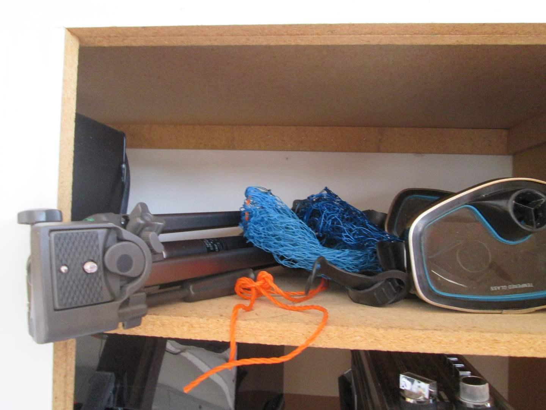 Lot # 143 - Tripod & Scuba Gear, 6 pieces (main image)