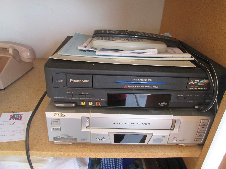 Lot # 145 - Panasonic VHS & Sanyo VCR (main image)