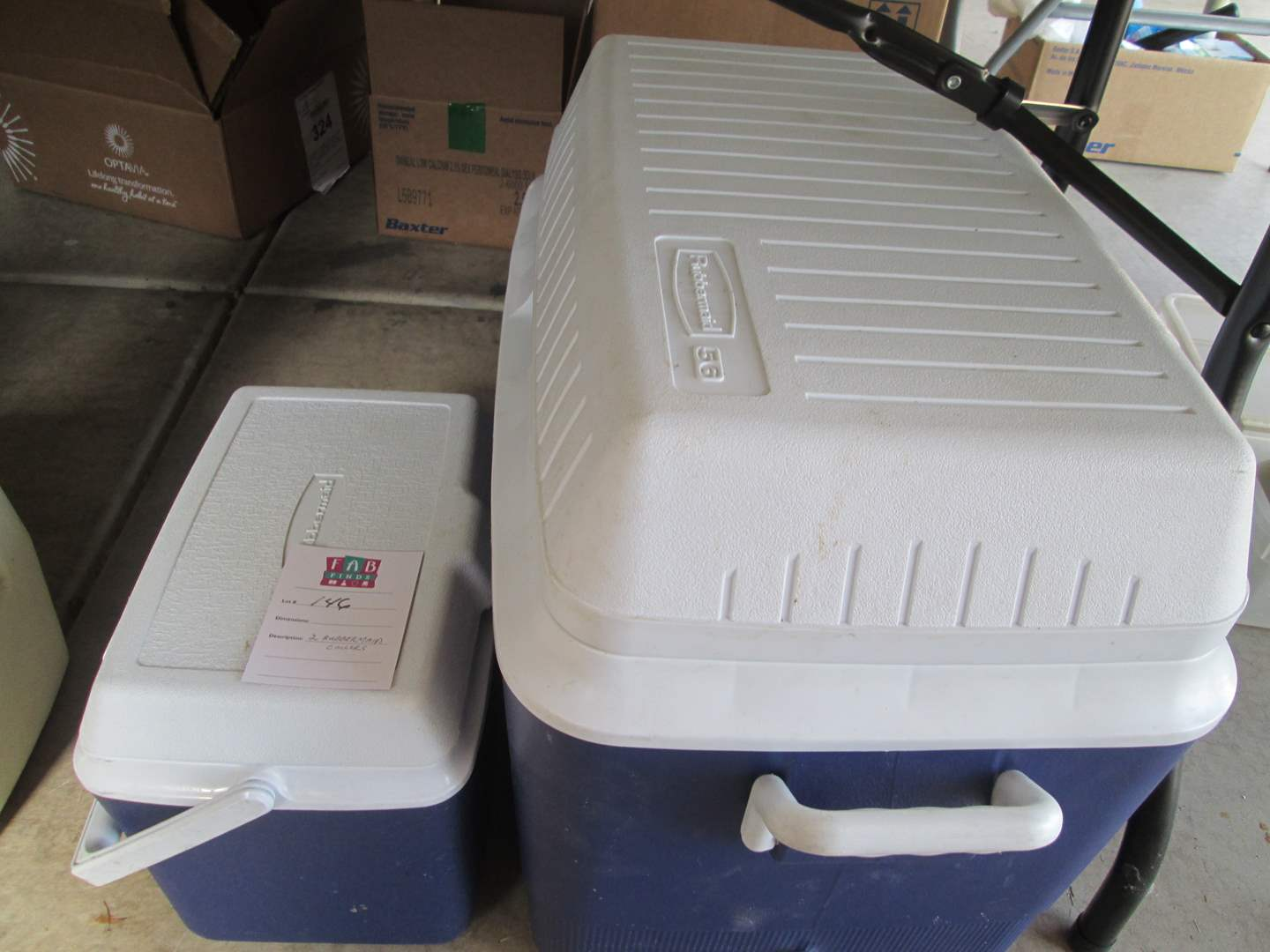 Lot # 146 - 2-Rubbermaid Coolers (main image)