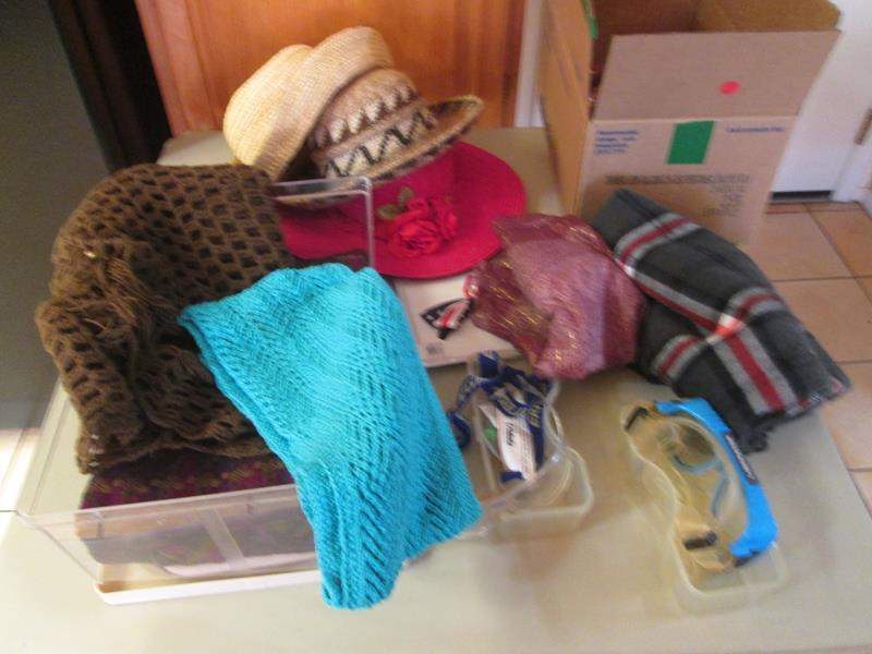 Lot # 171 - Ladies Hats, Scarves, Goggles & Books (main image)