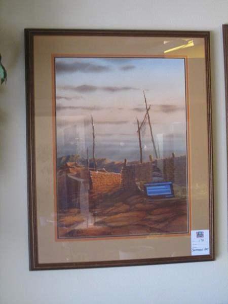 Lot # 173 - Framed Southwest Art (main image)