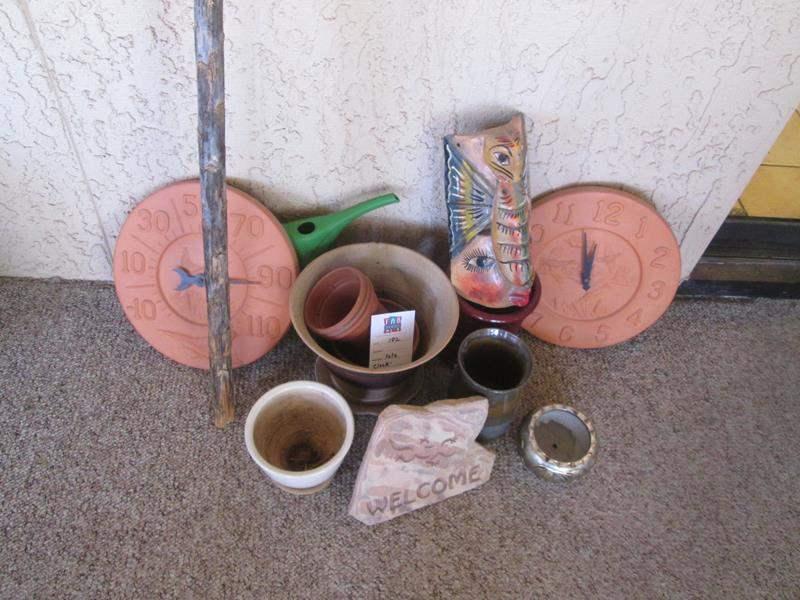 Lot # 182 - Terra Cotta Accessories & Flower Pots (main image)