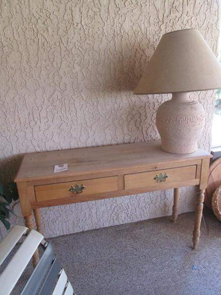 Lot # 188 - Console Table & Lamp (main image)