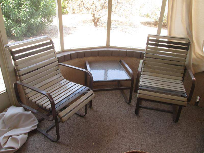Lot # 191 - 2-Patio Chairs & Accent Table (main image)