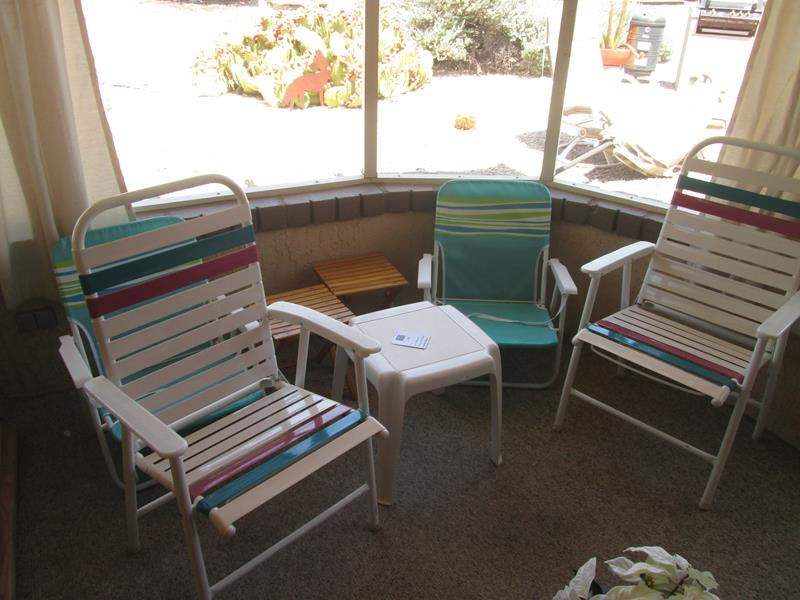 Lot # 195 - Beach & Patio Chairs + Accent Tables (main image)