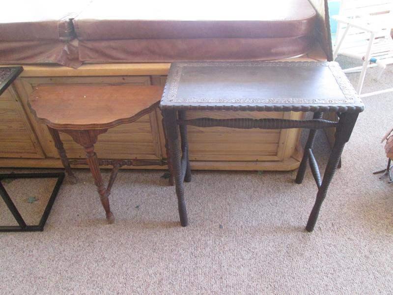 Lot # 201 - 2-Vintage Tables (main image)