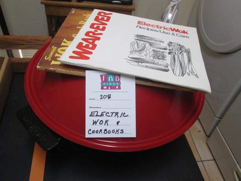 Lot # 208 - Electric Wok & Cookbooks (main image)