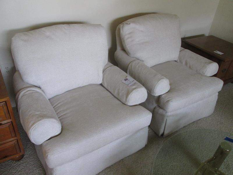 Lot # 222 - 2-Matching Upholstered Chairs (main image)