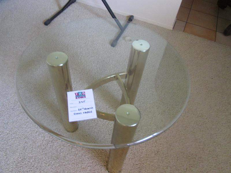 """Lot # 224 - 24"""" Round Glass Table (main image)"""