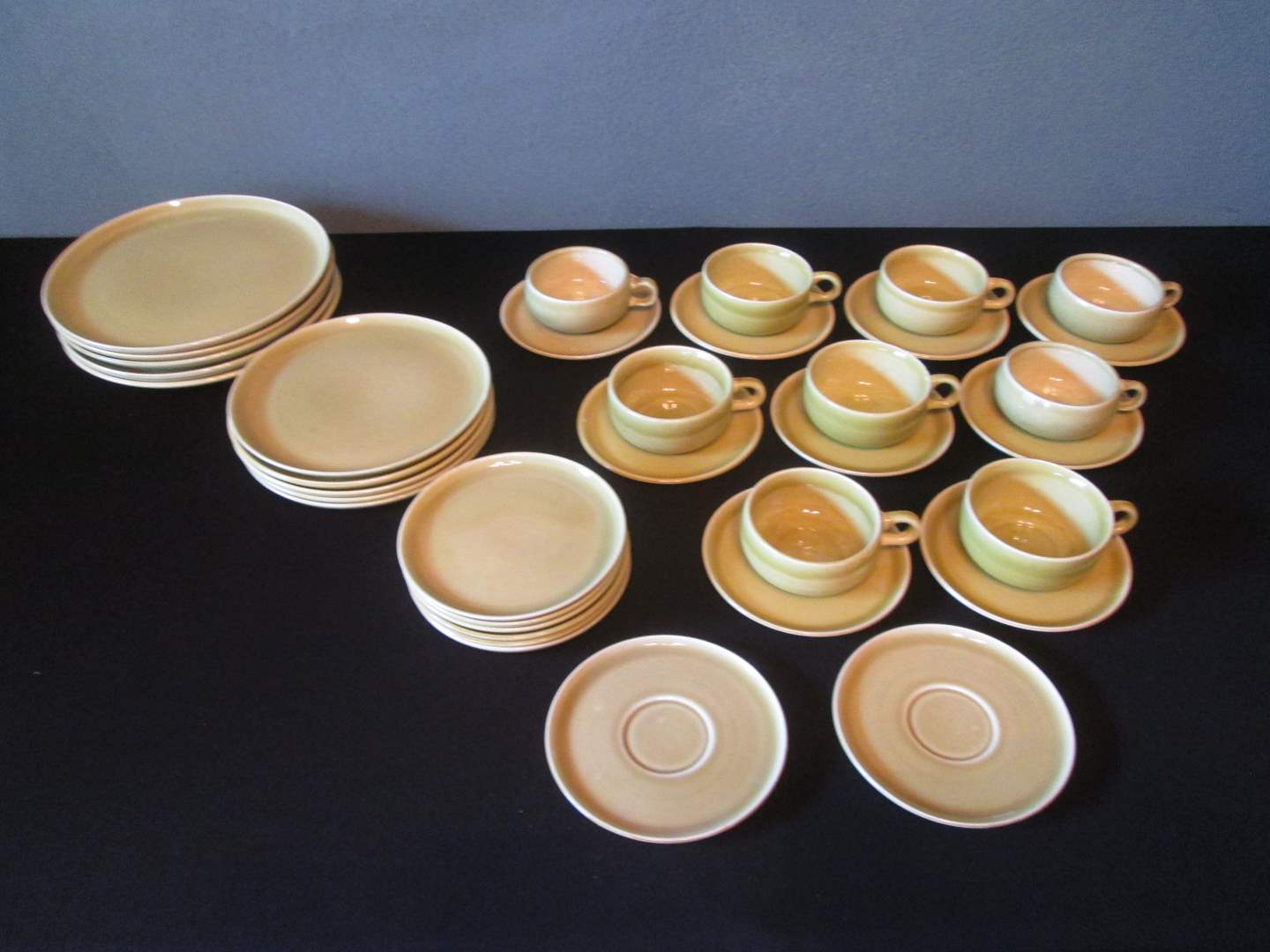 Lot # 226 - MCM Russel Wright China, Chartreuse, 36 pieces (main image)