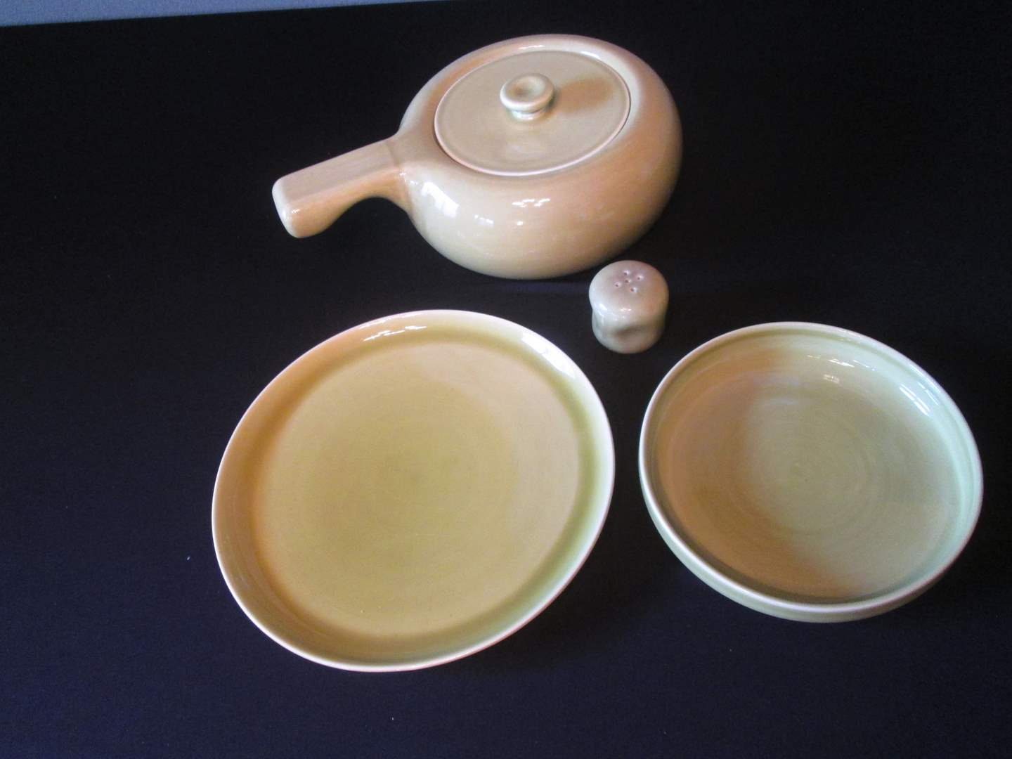 Lot # 230 - MCM Russel Wright China, Chartreuse, 5 pieces (main image)