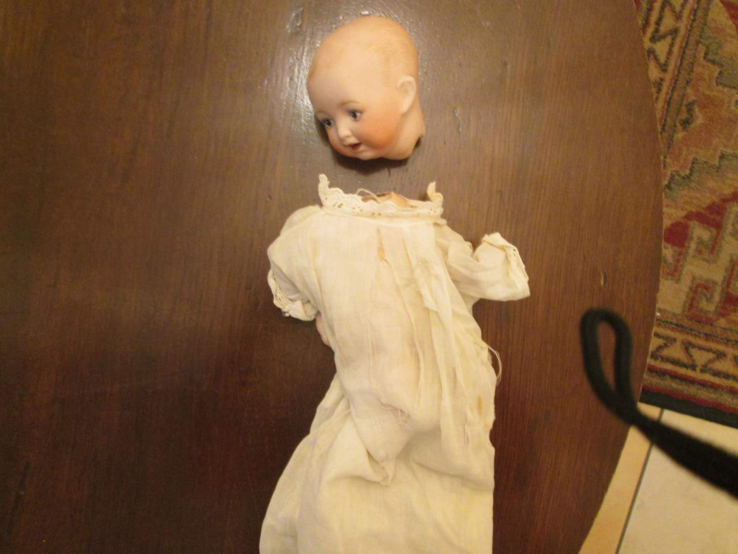 Lot # 237 - Small Doll, needs some TLC! 1900-1910 approx. Bisque Head (main image)