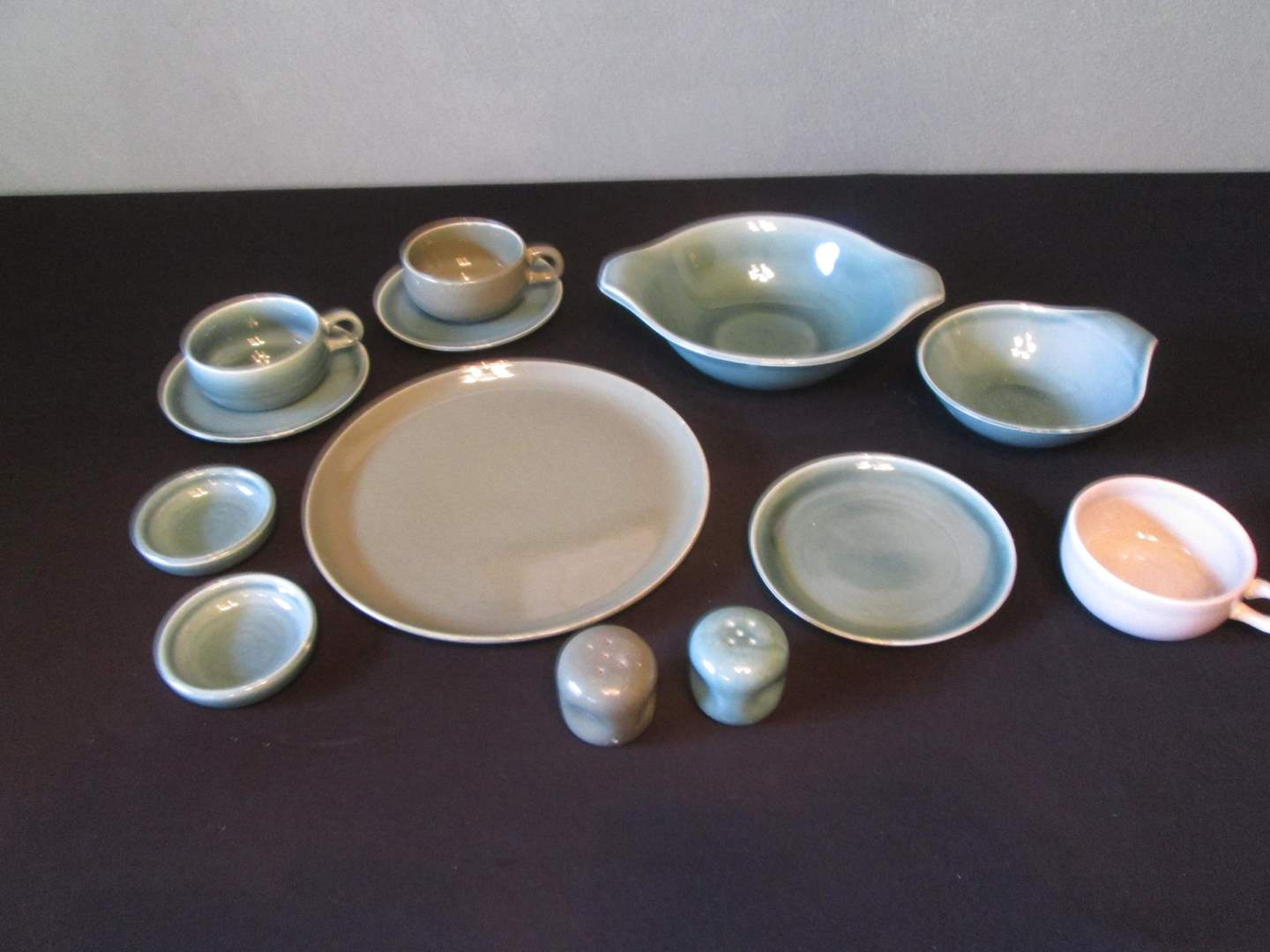 Lot # 241 - MCM Russel Wright China, Mixed Colors, 13 pieces (main image)
