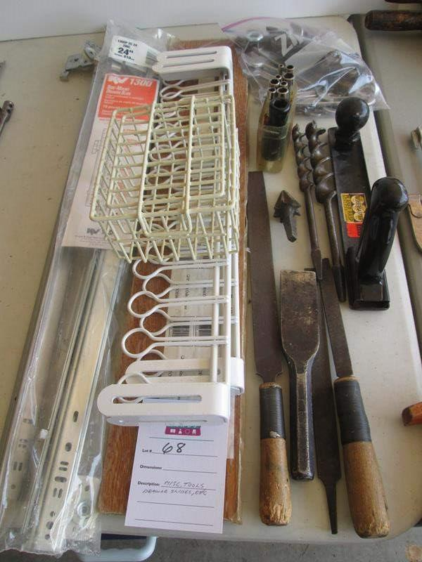 Lot # 68 - Miscellaneous Tools & Drawer Slides (main image)