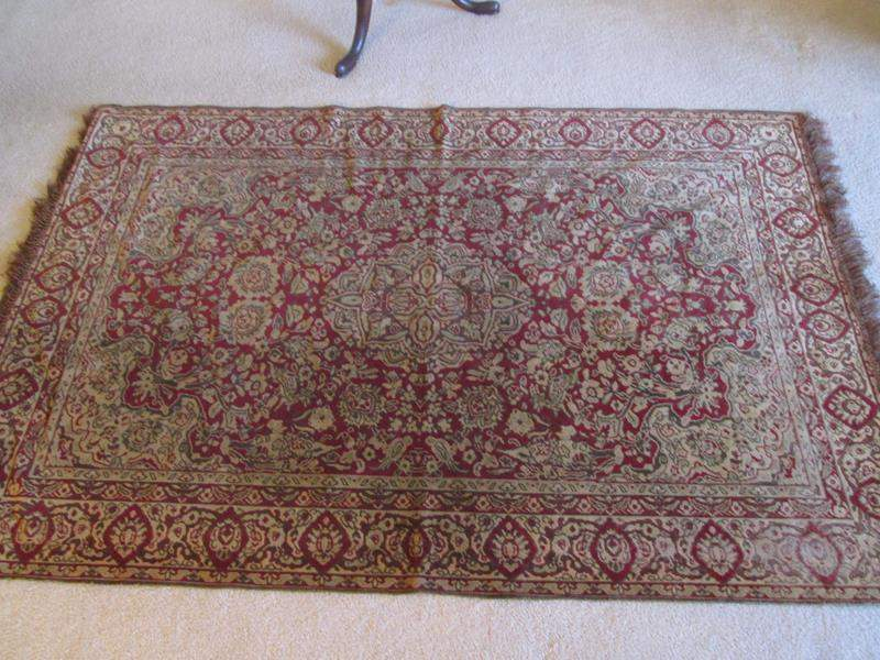 """Lot # 10 - Very Light Weight """"Tapestry-Style"""" Table Scarf, 74"""" X 47"""" (main image)"""
