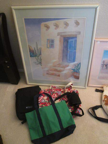 Lot # 13 - Framed Picture & Tote Bags (main image)
