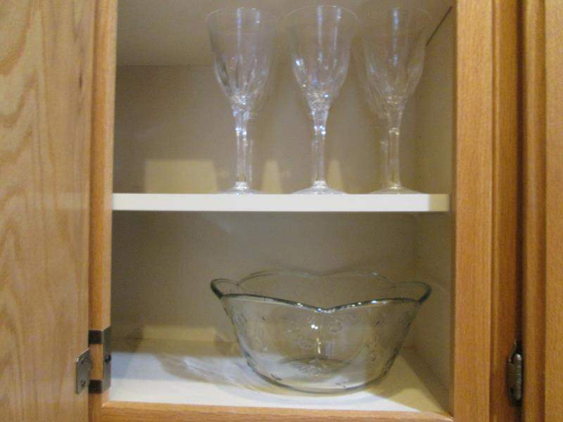 Lot # 29 - 6-Crystal Stems + Punch Bowl & 12 Cups (main image)