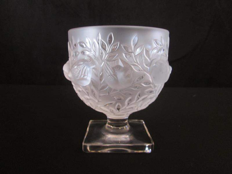 Lot # 35 - Stunning Signed Lalique Footed Bowl, C-1960's (main image)