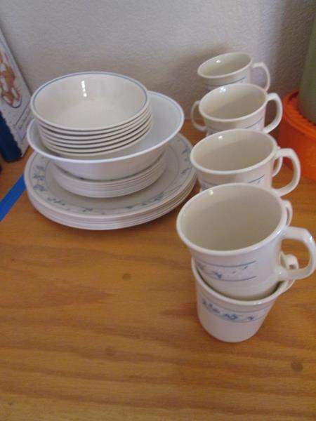 """Lot # 53 - Corelle Dishes """"First of Spring"""", 31 pieces (main image)"""