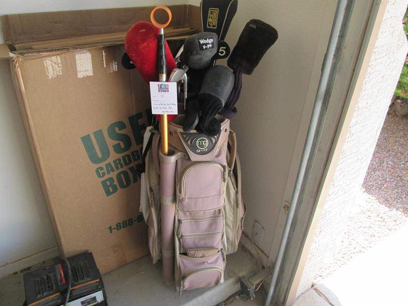 Lot # 75 - Ladies Golf Bag, 16 Clubs & Accessories (main image)