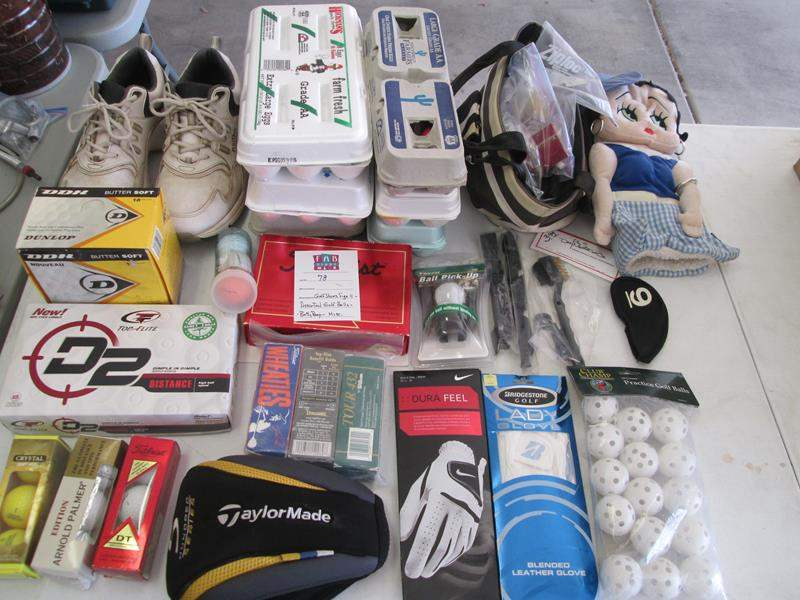 Lot # 78 - Golf Shoes, Size 11, Golf Balls & Accessories + Betty Boop! (main image)
