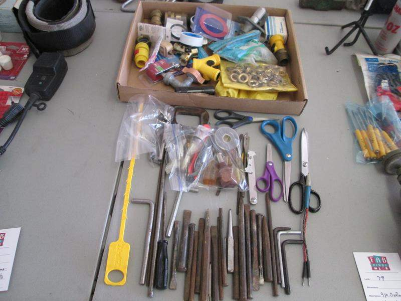 Lot # 80 - Plumbing Items, Drill Bits + Misc. Tools (main image)