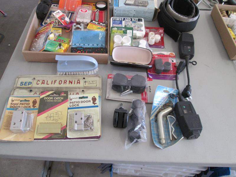 Lot # 81 - 3-License Plates, 3-Way CB Tester + Misc. Items (main image)