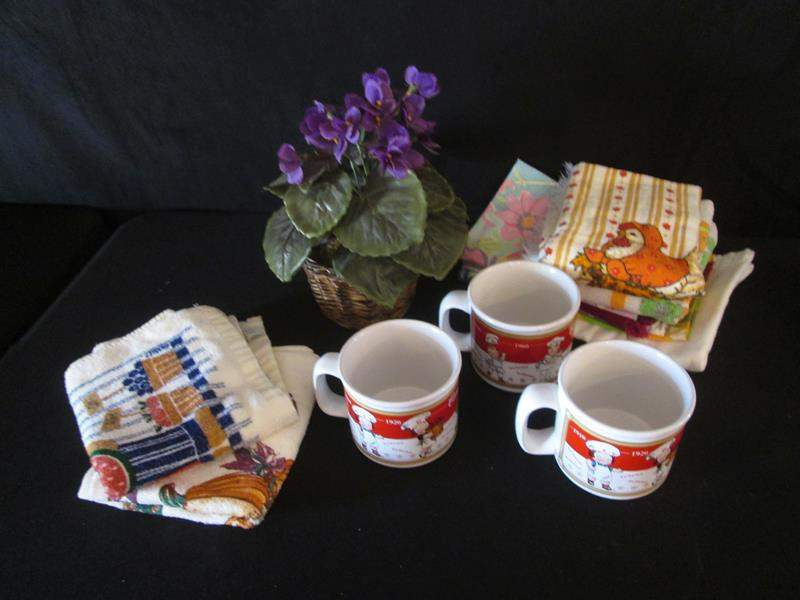 Lot # 56 - 3-Campbell Soup Mugs + Miscellaneous (main image)