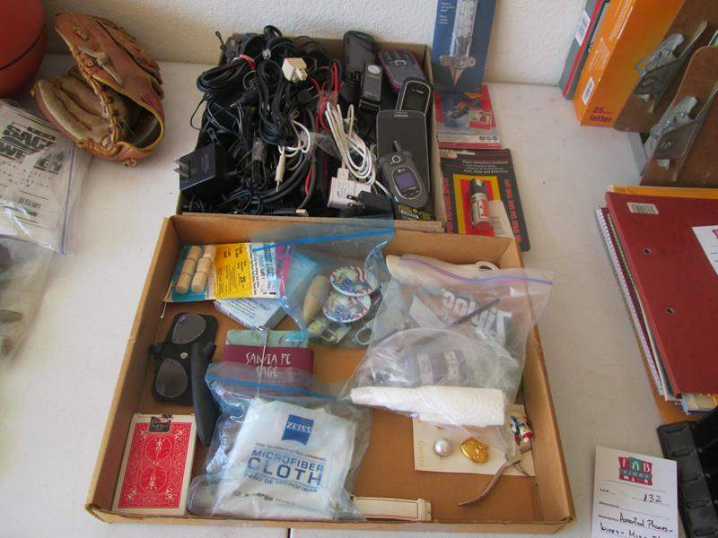 Lot # 132 - Assorted Phones, Wires & Miscellaneous (main image)
