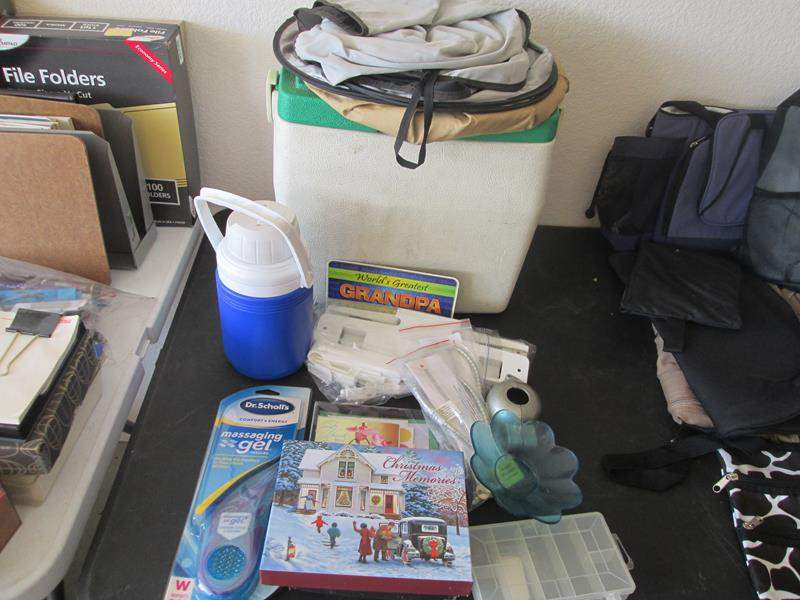 Lot # 134 - Cooler & Thermos, Kiddie Safety Locks & Holiday Cards (main image)