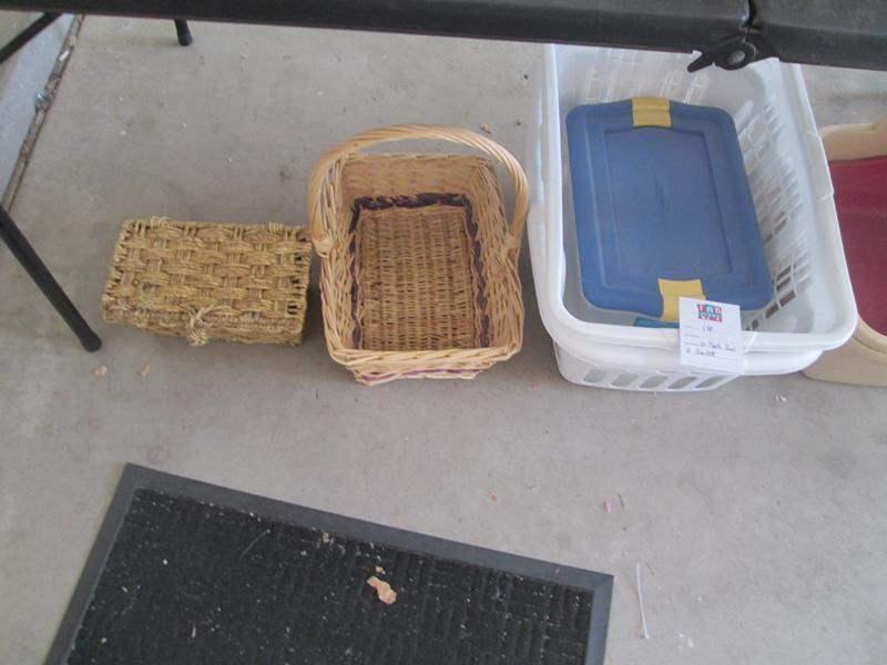 Lot # 141 - 10-Plastic Bins & 2-Baskets (main image)