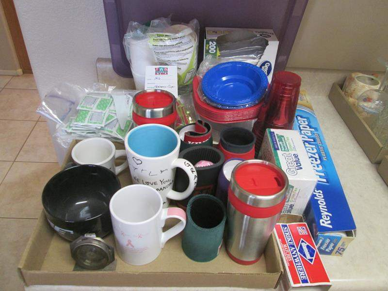 Lot # 146 - Tea Bags, Mugs, Thermoses, Misc. Kitchen Items (main image)