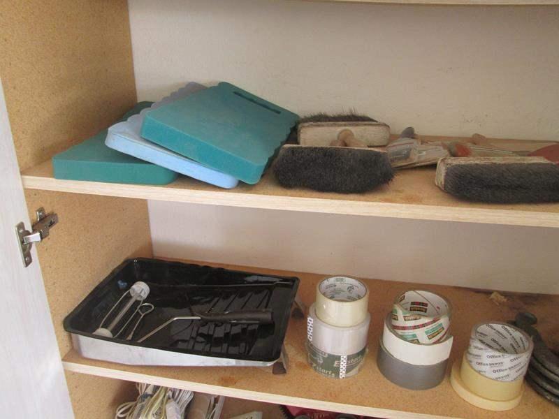 Lot # 161 - Paint Supplies, Tape & Horseshoes (main image)