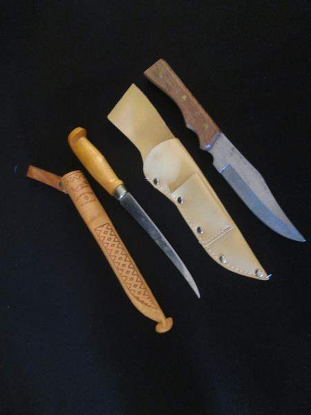 Lot # 105 - 2-Knives with Sheathes - Finland Martinni (main image)