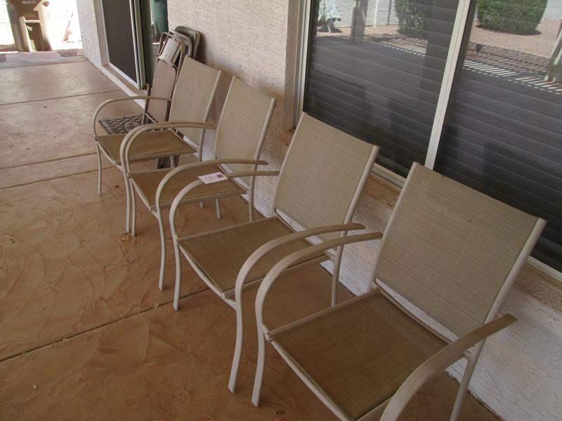 Lot # 167 - 4-Patio Chairs + 3-Folding Chairs (main image)
