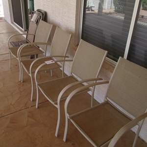 Auction Thumbnail for: Lot # 167 - 4-Patio Chairs + 3-Folding Chairs
