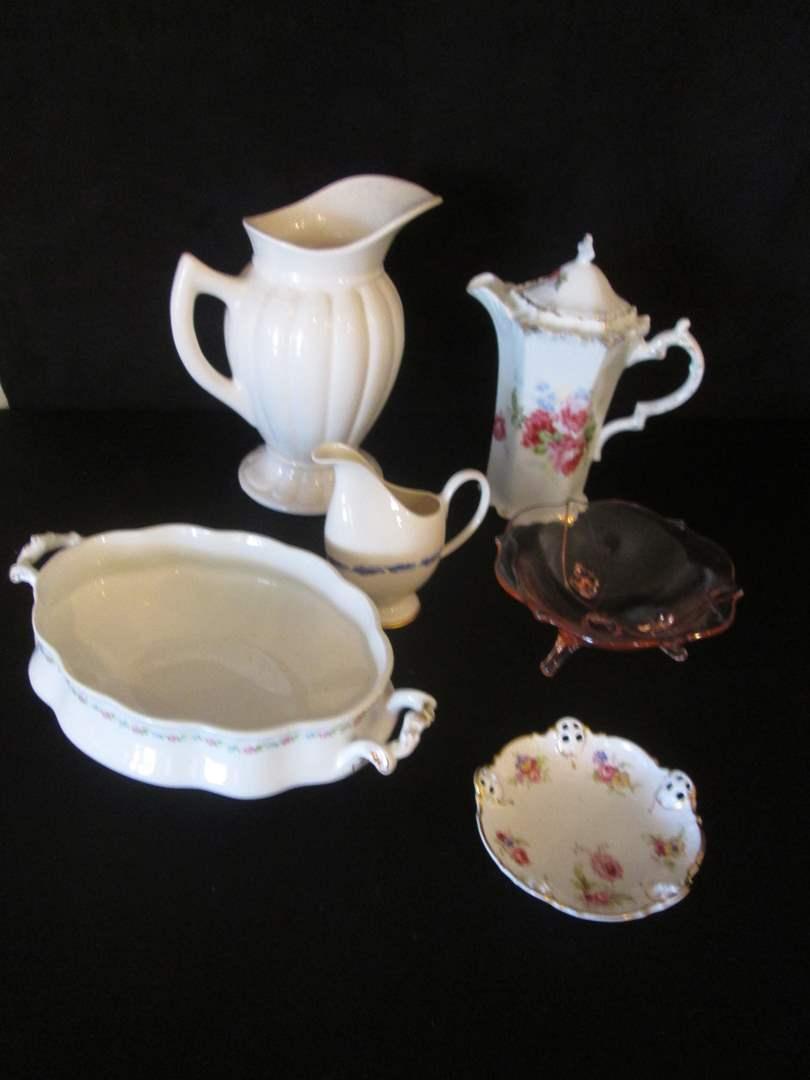 Lot # 184 - Vintage Serving Pieces, 6 Items (main image)