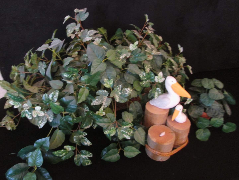 Lot # 187 - Assorted Greenery & Pelican Decor (main image)