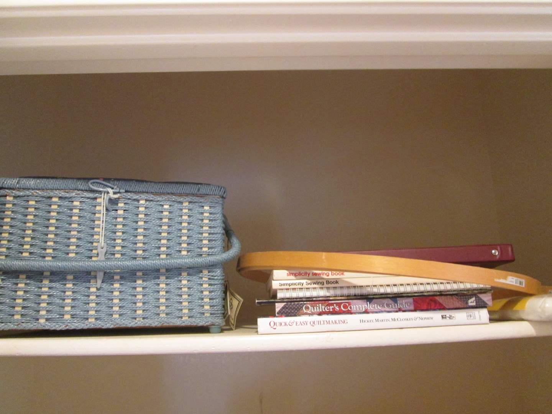 Lot # 217 - Sewing Basket & Craft Books & Items (main image)