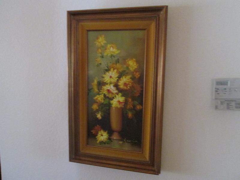 Lot # 197 - Framed Picture & Wall-Mount Shelf (main image)