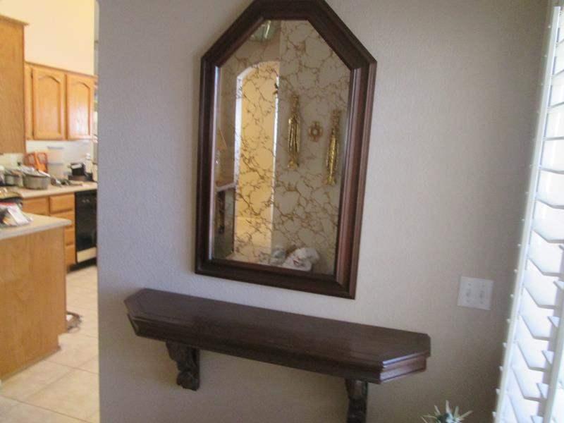 Lot # 196 - Wall-Mount Shelf & Mirror (main image)