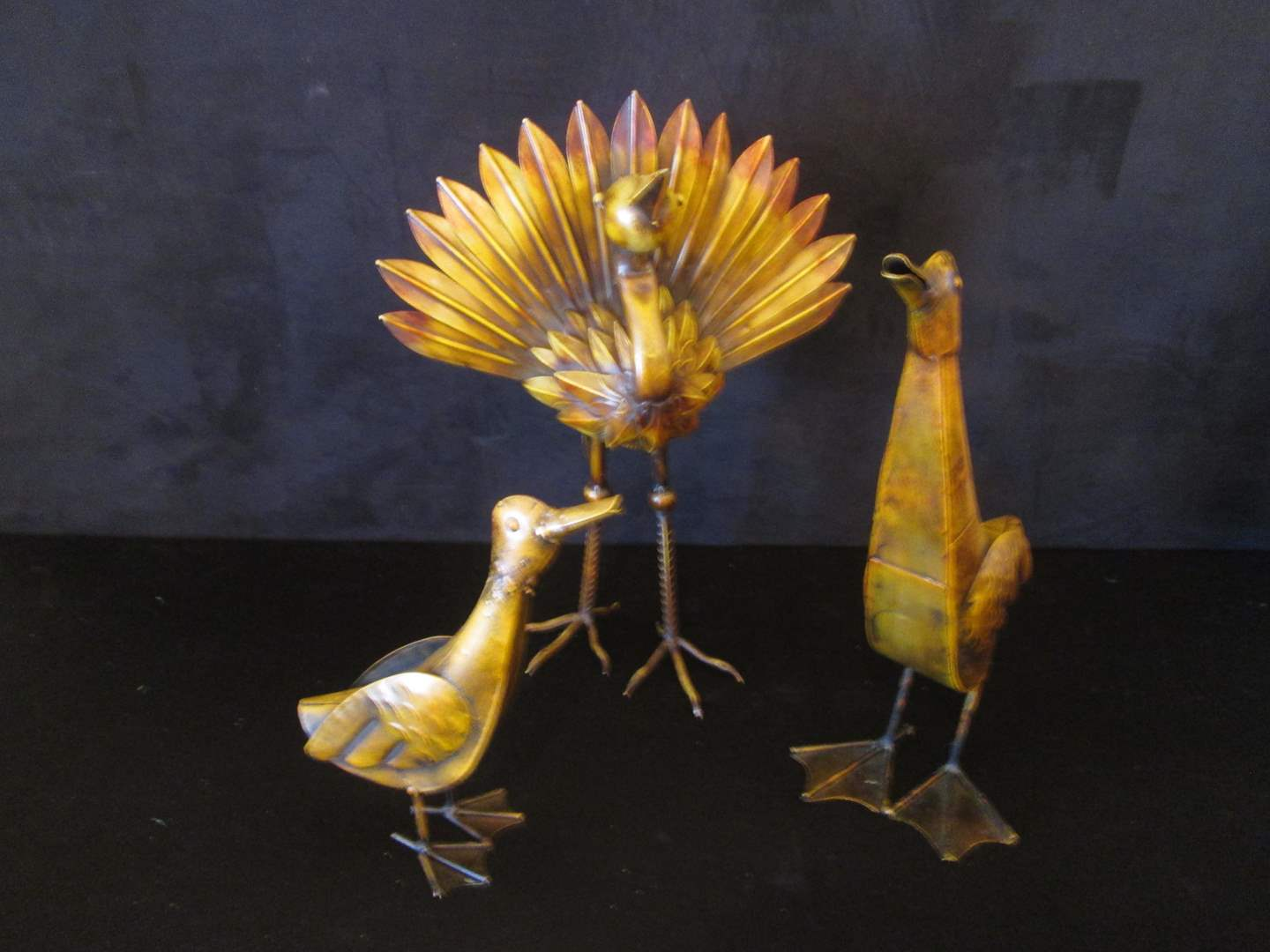 Lot # 235 - 3-Piece Metal Bird Sculpture Set (main image)