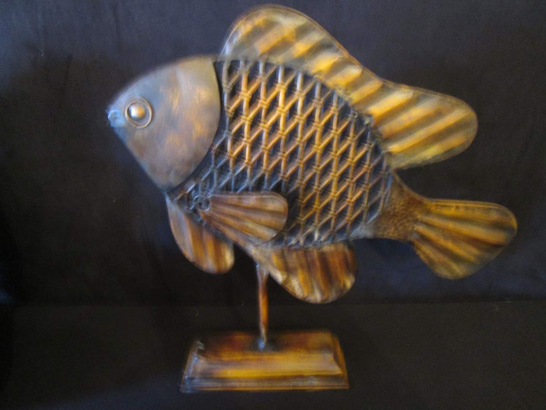 "Lot # 237 - Metal Fish Sculpture, 21"" High (main image)"