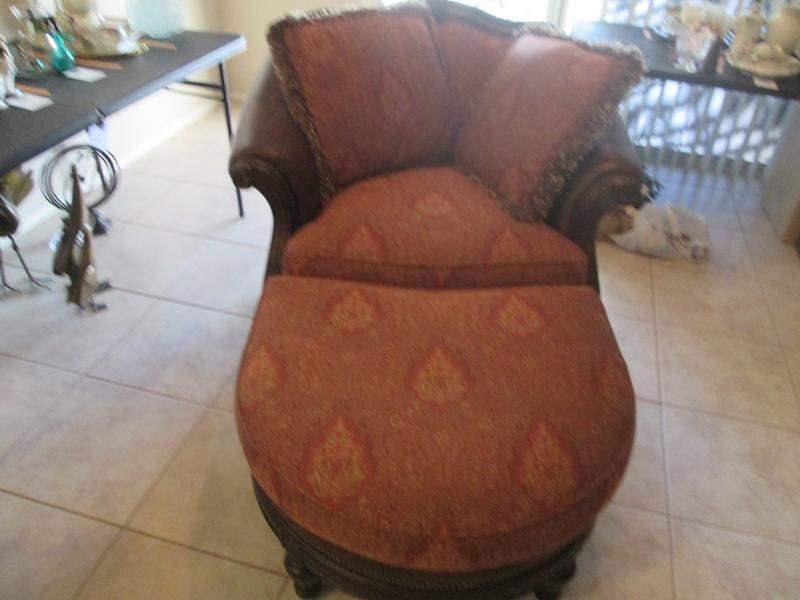 Lot # 231 - Thomasville Oversized Chair/Ottoman (main image)