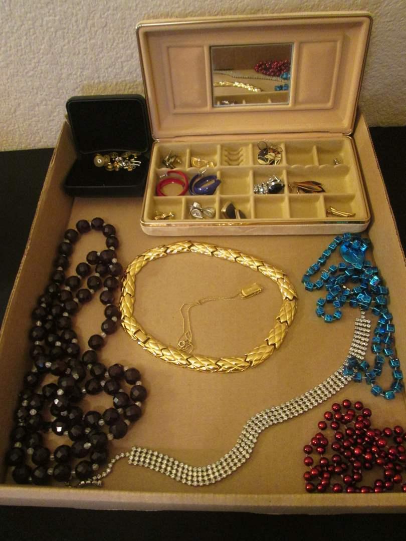 Lot # 262 - Costume Jewelry with JewelryBox (main image)