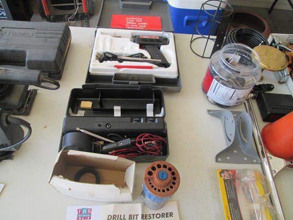 Lot # 122 - Soldering Gun, Radio & Drill Bit Restorer (main image)