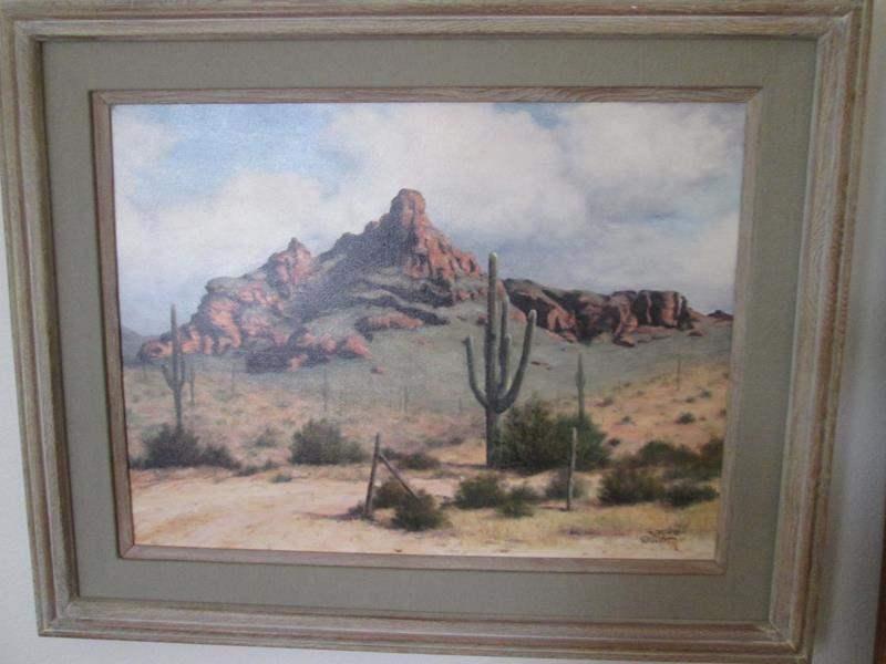 Lot # 4 - Framed Southwest-Themed Art (main image)