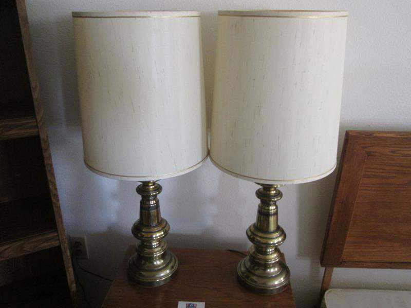 Lot # 13 - 2-Brass Table Lamps (main image)