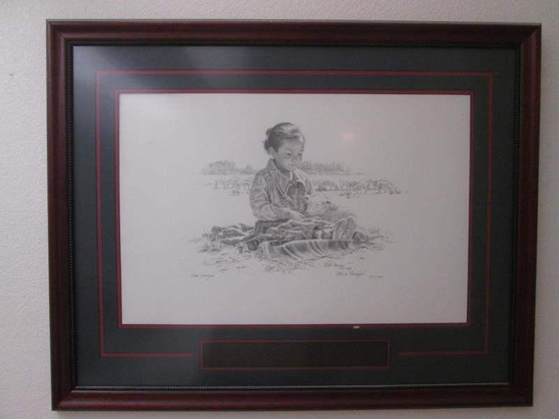 "Lot # 40 - Framed Art ""All Is Peaceful"", 1987, Ltd. Ed. (main image)"